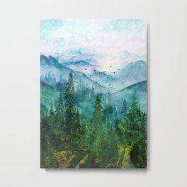 Spring Mountainscape Metal Print