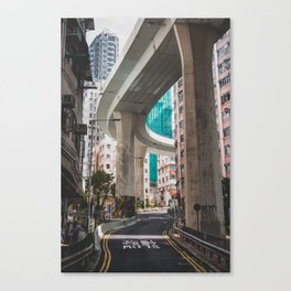 Hong Kong Street Bridge Canvas Print