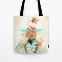 ariana grande Tote Bags featuring Autumn by Ariana Perez