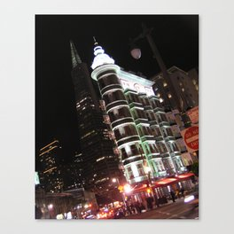 Sentinel Building at Night Canvas Print