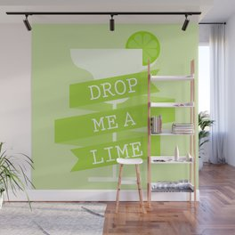 Drop Me A Lime Wall Mural