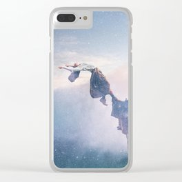 Falling Stars Surreal Levitation Off a Cliff Clear iPhone Case