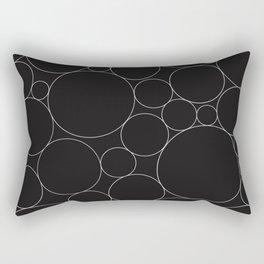 Circular Collage - Black & White I Rectangular Pillow