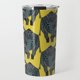 rhinoceros yellow Travel Mug