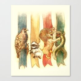 House Brawl Canvas Print
