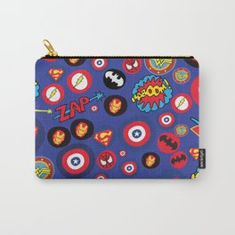Movie Super Hero logos Carry-All Pouch