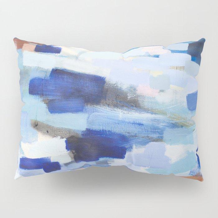 Blues - abstract art Pillow Sham