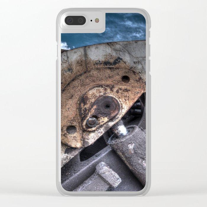 Machine Rust Hydraulic Ram Clear iPhone Case