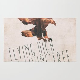 Flying high & living free Rug