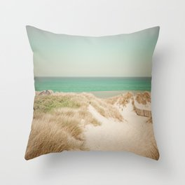 Beach dune miniature 4 Throw Pillow