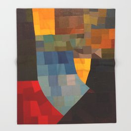 Otto Freundlich Komposition 1930 Mid Century Modern Abstract Colorful Geometric Painting Pattern Art Throw Blanket
