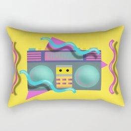 Retro Eighties Boom Box Graphic Rectangular Pillow