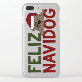 Feliz Navidog Clear iPhone Case