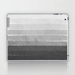 Brushstroke - Ombre Grey, Charcoal, minimal, Monochrome, black and white, trendy,  painterly art  Laptop & iPad Skin