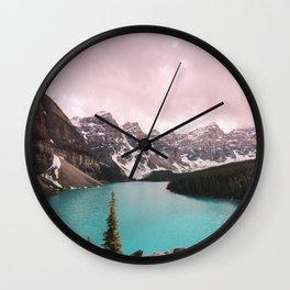 Moraine Lake Banff National Park Wall Clock