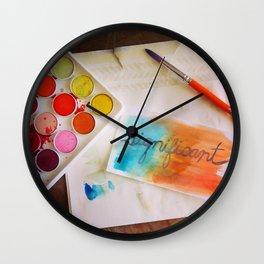 significant watercolor print photo Wall Clock
