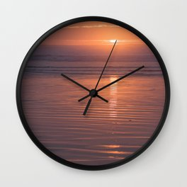 Sunset Sings Quietly Wall Clock