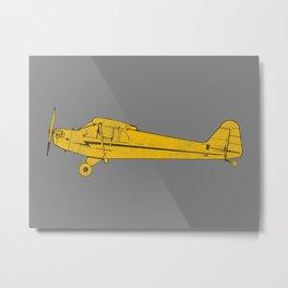Piper Cub Metal Print
