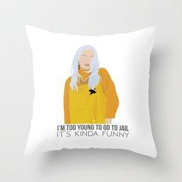 Billie Eilish - Bellyache Throw Pillow