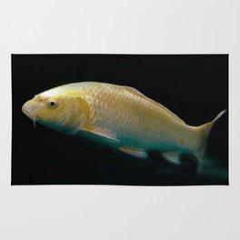 A lucky golden colored carp/Nishikigoi(Japanese Colored Carp) Rug