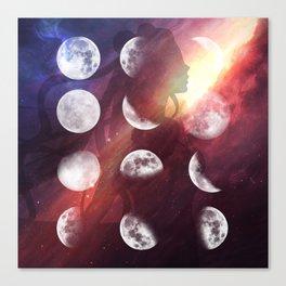 Moon Goddess Selene Canvas Print