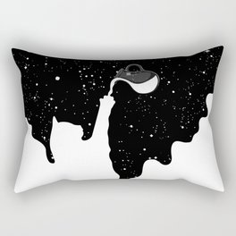Space Paint Milky Way Cat Rectangular Pillow