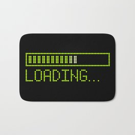 Green Loading Time Bar Bath Mat