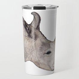 Watercolor Rhino Travel Mug