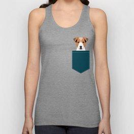 Bailey - Jack Russell Terrier phone case art print gift for dog people Jack Russell Terrier owners Unisex Tank Top