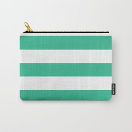 Mountain Meadow - solid color - white stripes pattern Carry-All Pouch
