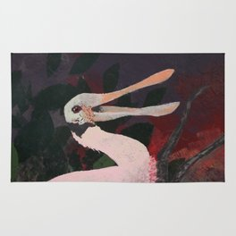 Laughing spoonbill Rug