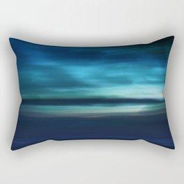 Blue Landscape Rectangular Pillow
