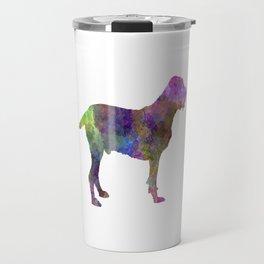 Spinone in watercolor Travel Mug