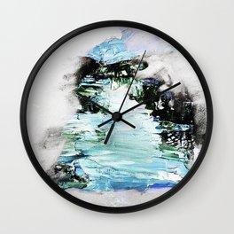 Blue human Wall Clock