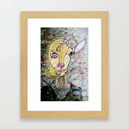 Bearded Lady Framed Art Print