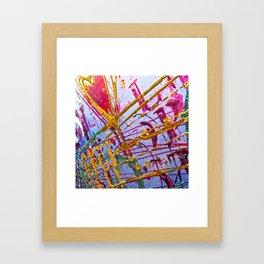 Love Grunge Texture Framed Art Print
