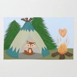 The Lone Fox  Rug