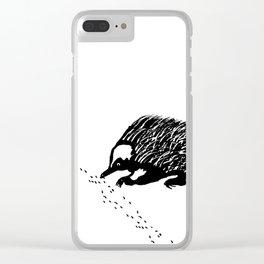 Echidna  (Tachyglossus aculeatus) Clear iPhone Case