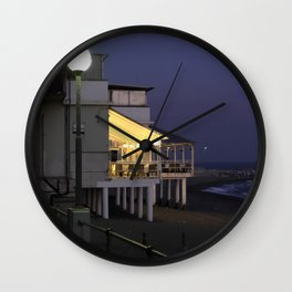 Varazze by night Wall Clock