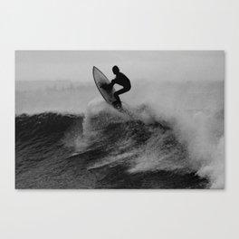 Surf black white Canvas Print