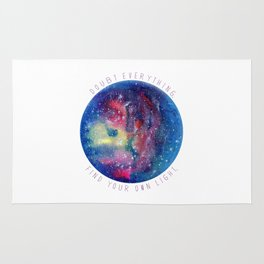 Doubt Everything - Find Your Own Light Rug