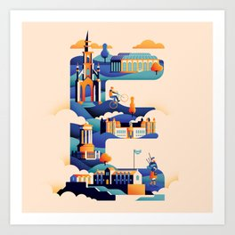 Wanderlust Alphabet – E is for Edinburgh Art Print