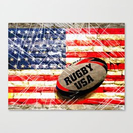 American Rugby Canvas Print