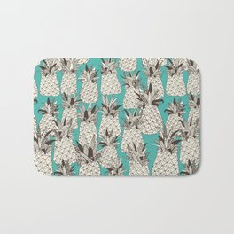 pineapple turquoise sea Bath Mat
