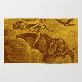 The Occult Golden Elephant Rug