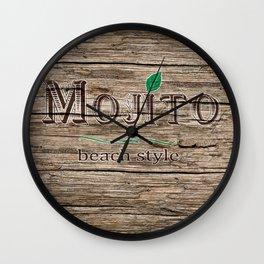 mojito beach style classic Wall Clock