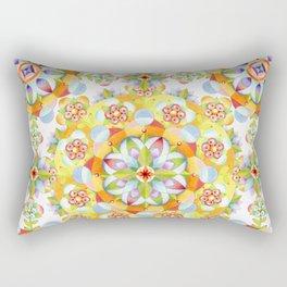 Flower Garden Mandala Rectangular Pillow