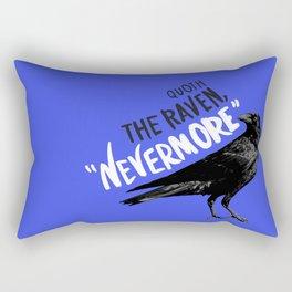 Nevermore Raven Blue Rectangular Pillow