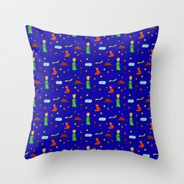 """""""The Little Prince"""" Pattern Throw Pillow"""