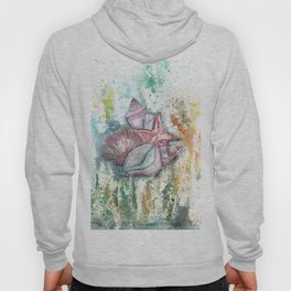Seashells Art Illustration Hoody